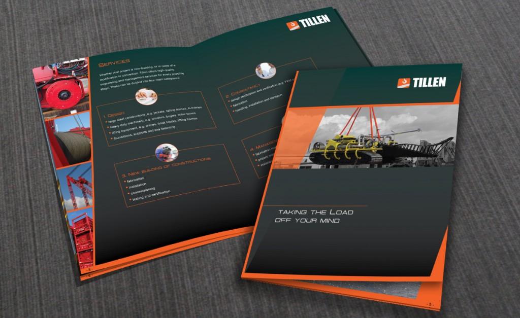 Brochure ontwerp Tillen