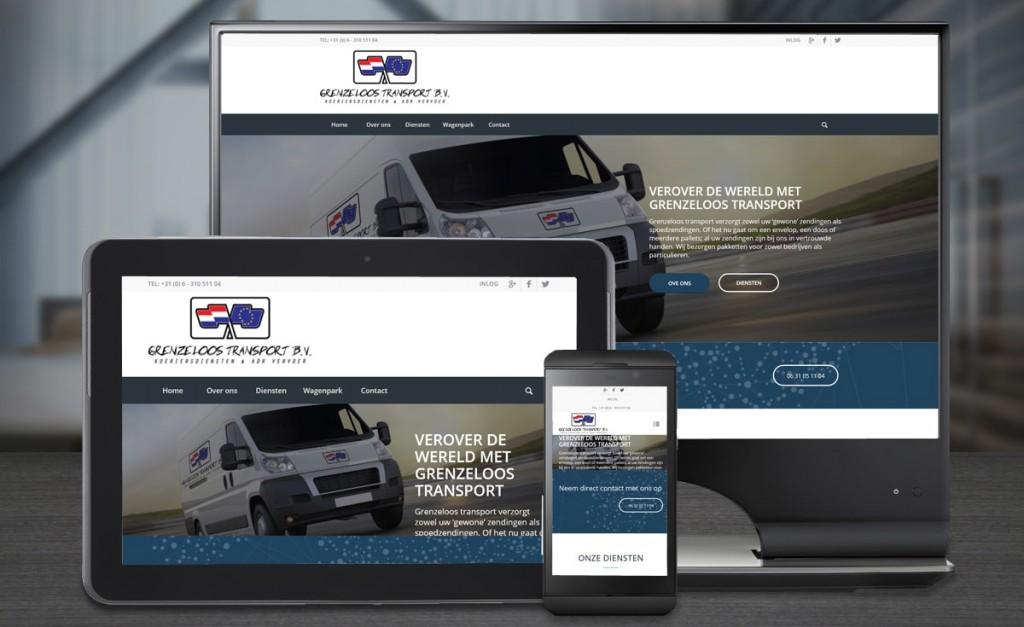 Webdesign Grenzeloos transport