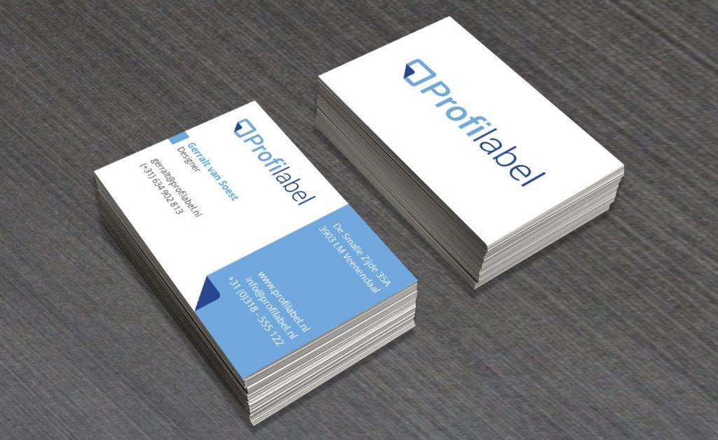 Visitekaartje ontwerp Profilabel