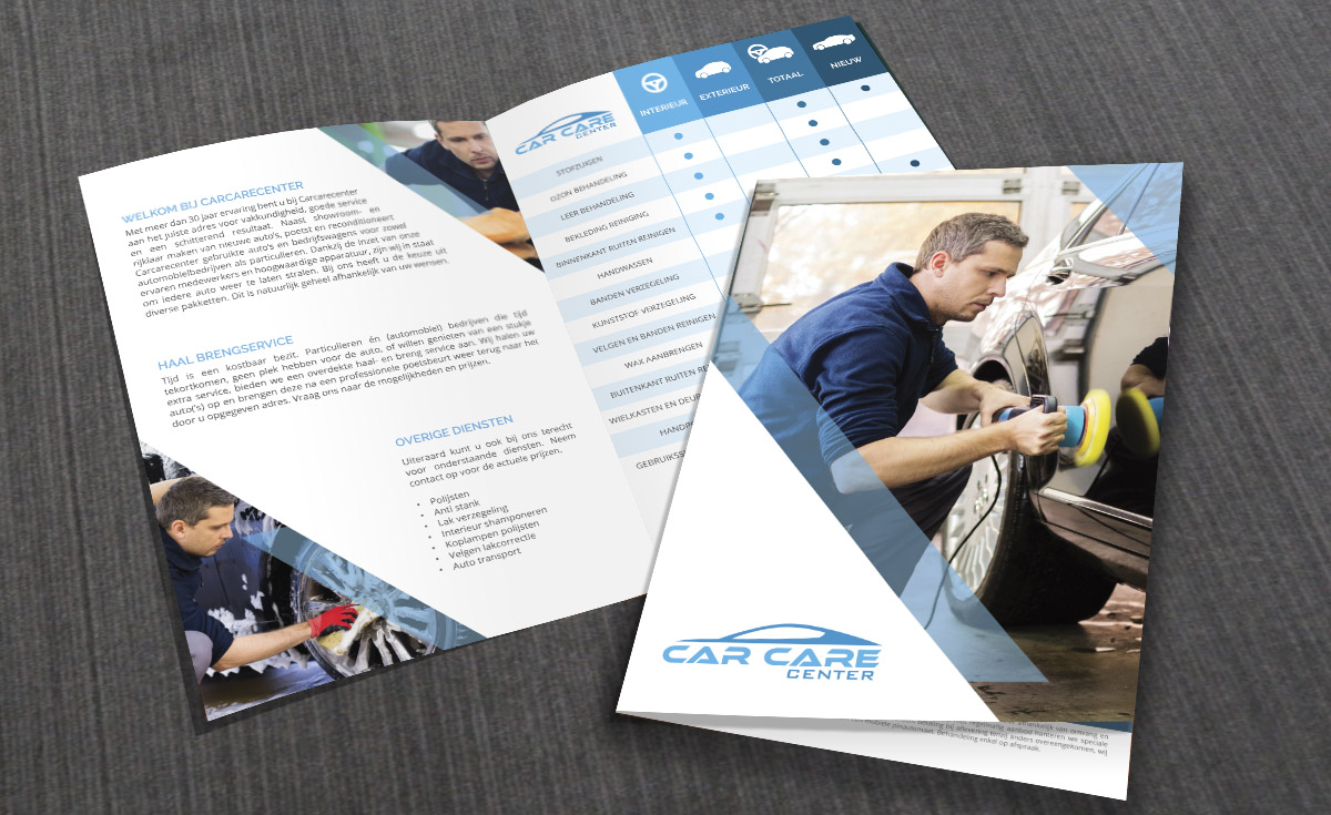 Brochure carcarecenter grafisch ontwerp giraphic design giraphic