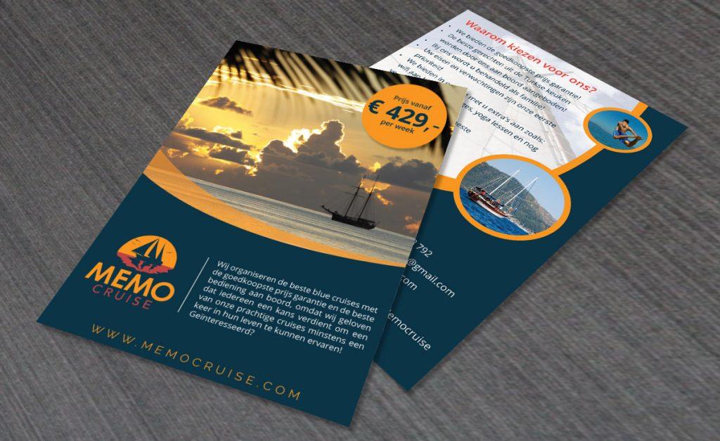 Flyer ontwerp Memo Cruise