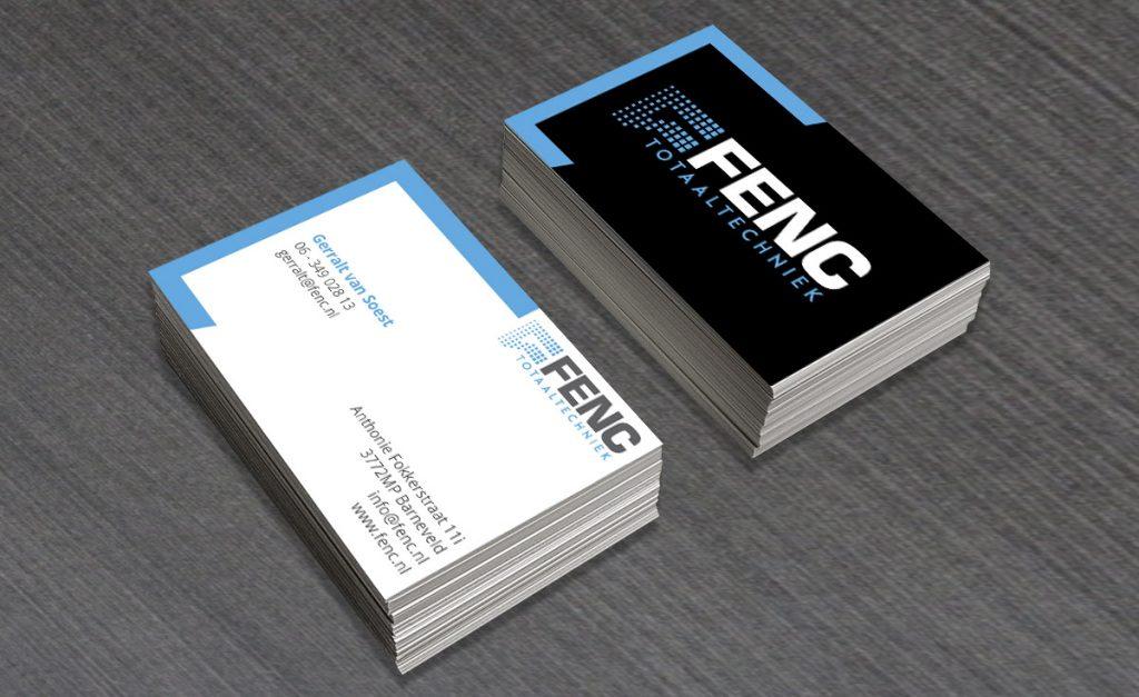 Visitekaartje ontwerp FenC Totaaltechniek