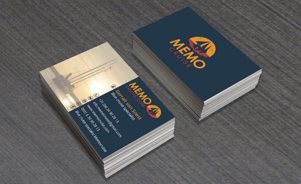 Visitekaartje ontwerp Memocruise