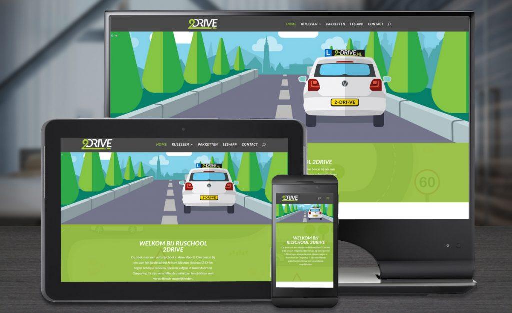 Website ontwerp en illustraties 2-Drive