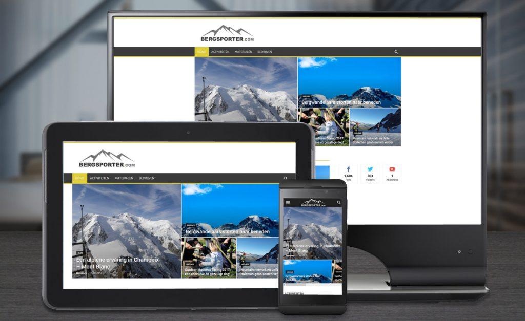 Website ontwerp Bergsporter