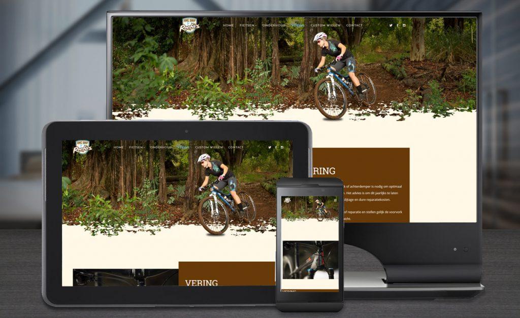 Website ontwerp Bike Shop Reefo's