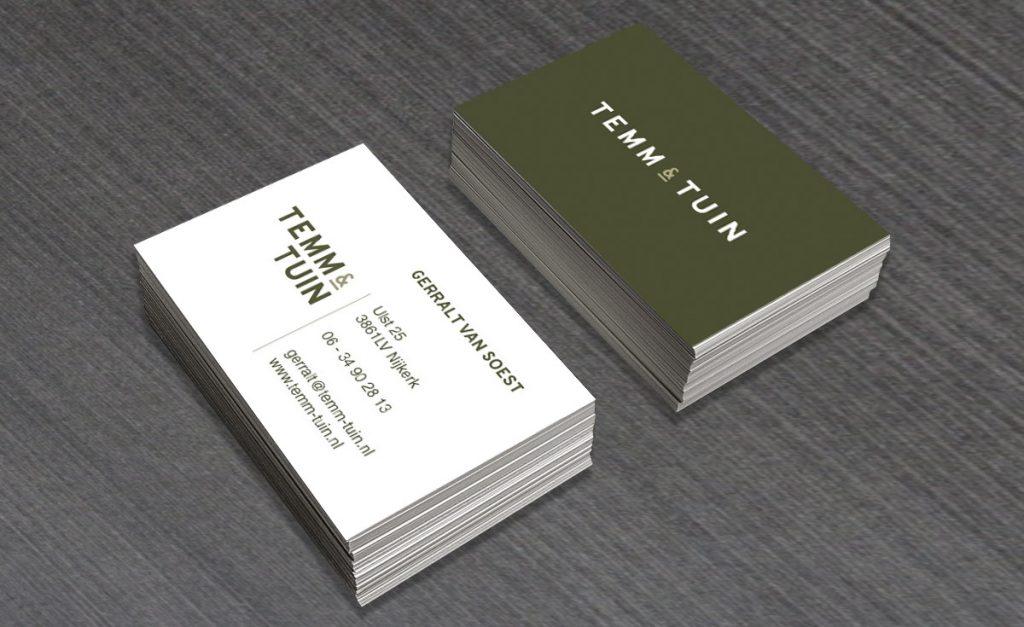 Visitekaartje ontwerp TEMM & TUIN