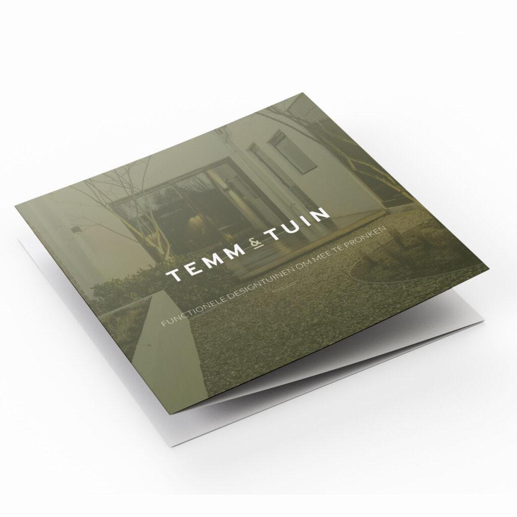 Flyer ontwerp Temm & Tuin