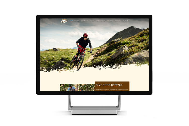 Website ontwerp Bike Shop Reefo's