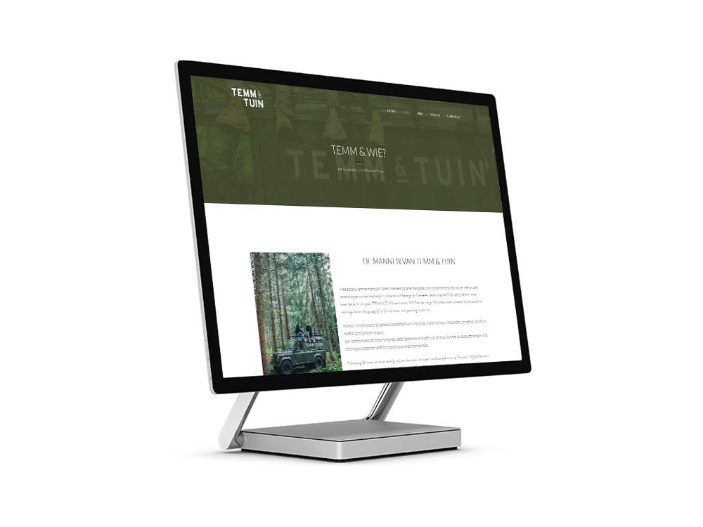 Website ontwerp TEMM & TUIN